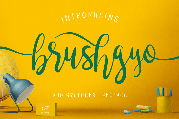 brushgyo Font screenshot design