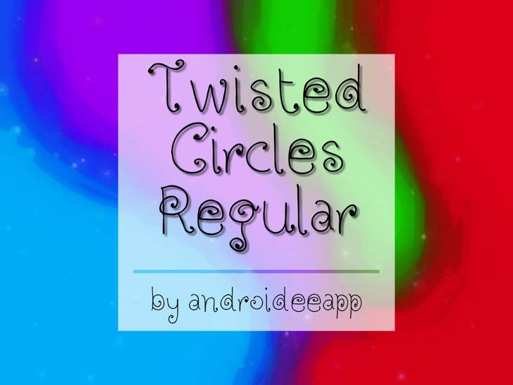 Twisted Circles Regular Font screenshot
