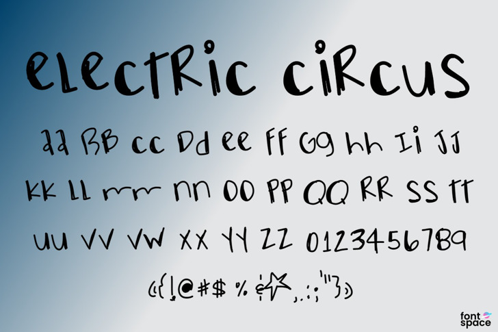 ElectricCircus Font poster