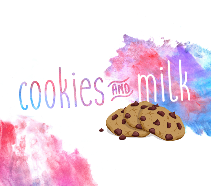 Cookies and milk Font poster