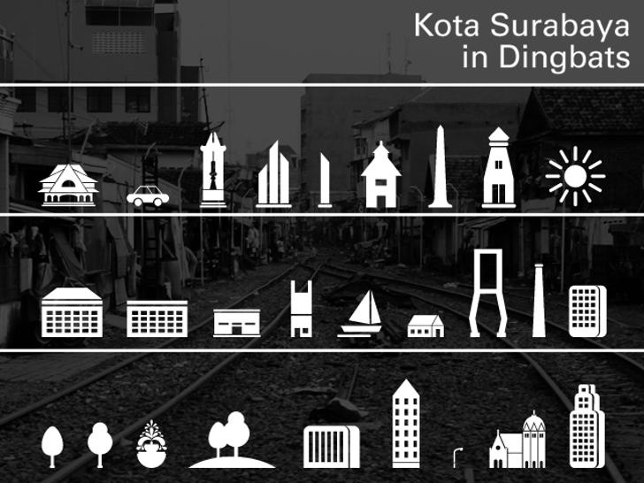 Kota Surabaya Font design screenshot