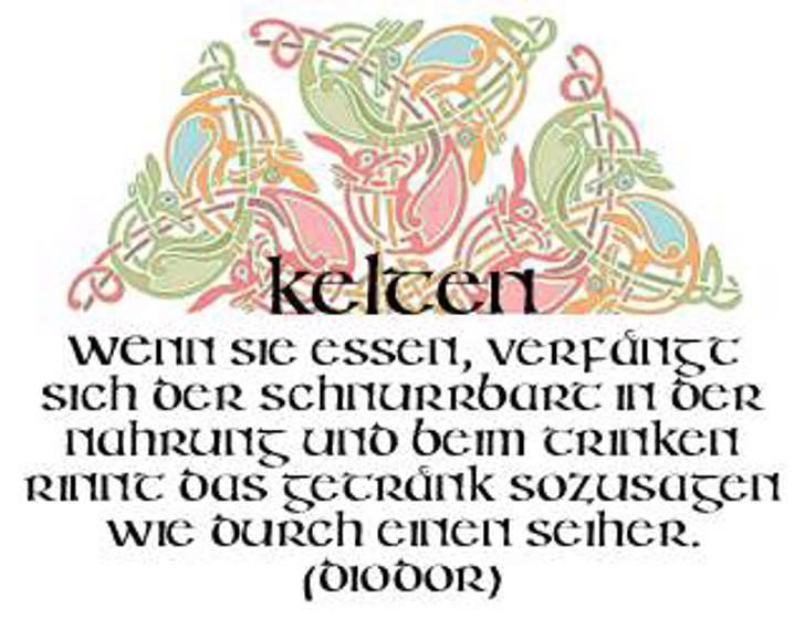 Irish Unci Alphabet Font design illustration