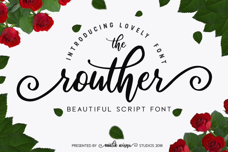 routher Font design cartoon