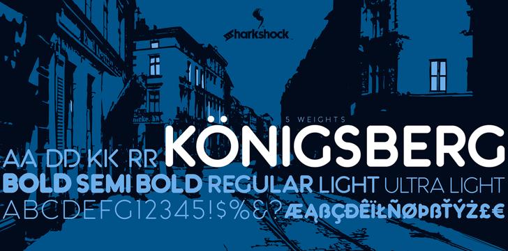 Königsberg Font text poster