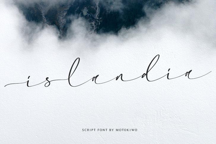 Islandia Font poster