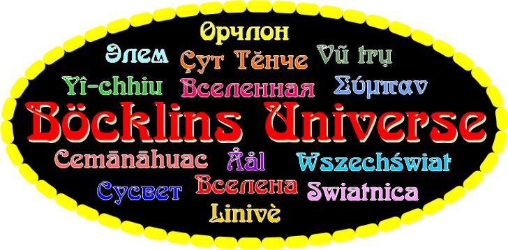Boecklins Universe Font screenshot text