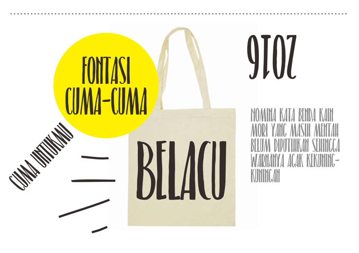 Belacu Font design poster