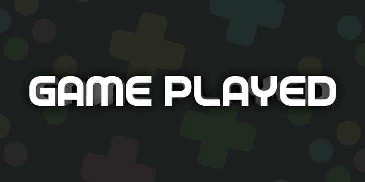Game Played Font design screenshot