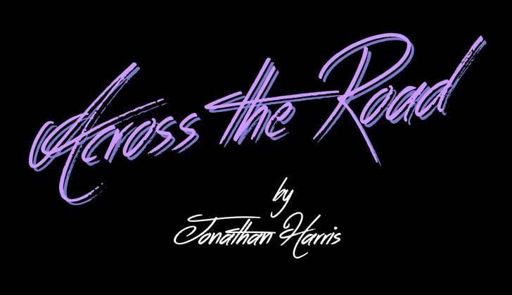 Across the Road Font design typography