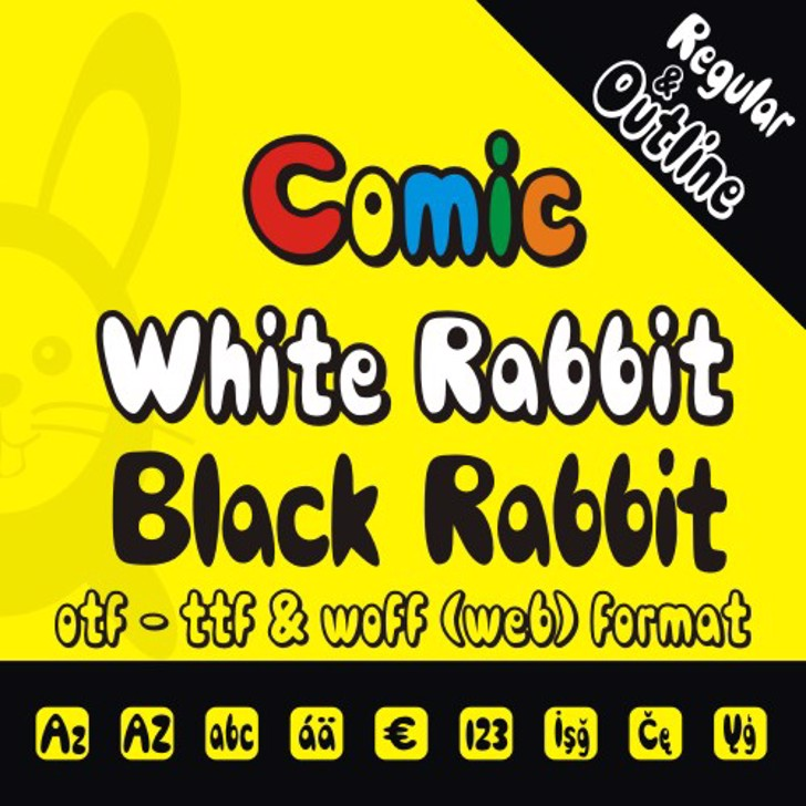 Comic Black Rabbit Font screenshot poster