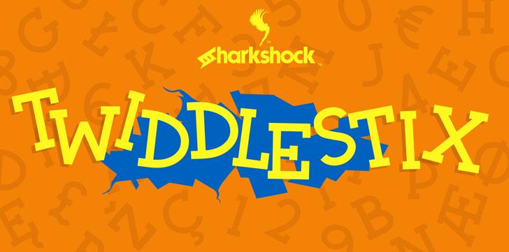 Twiddlestix Font design poster