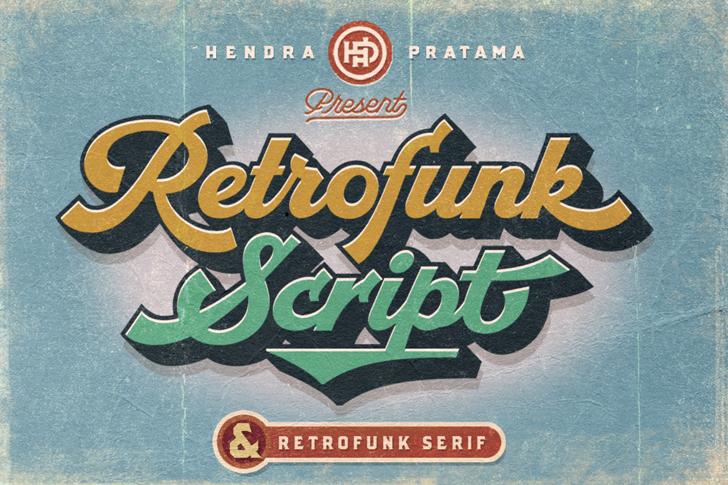 Retrofunk Script Personal Use Font poster