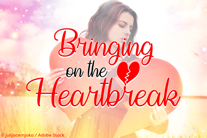 Bringing on the Heartbreak Font human face poster