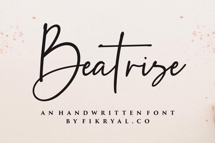 Beatrise Font poster