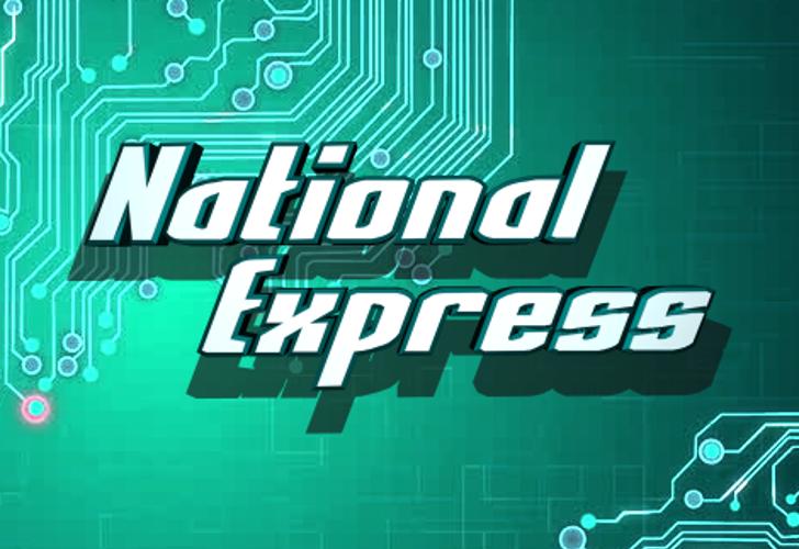 National Express Font poster screenshot