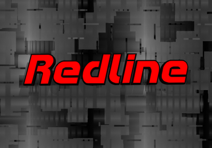 Redline Font screenshot sign