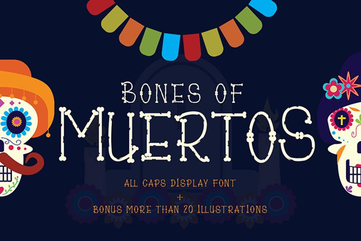 Bones of Muertos Font poster