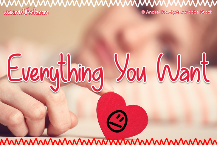 Everything You Want Font book design