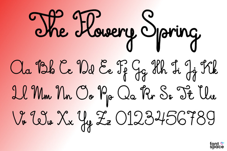 The Flowery Spring Font poster