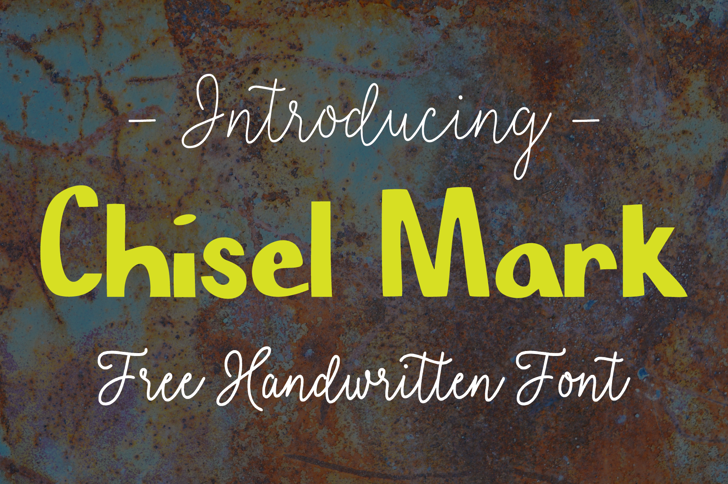 Chisel Mark Font text typography