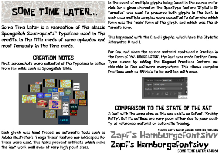 Some Time Later Font screenshot abstract