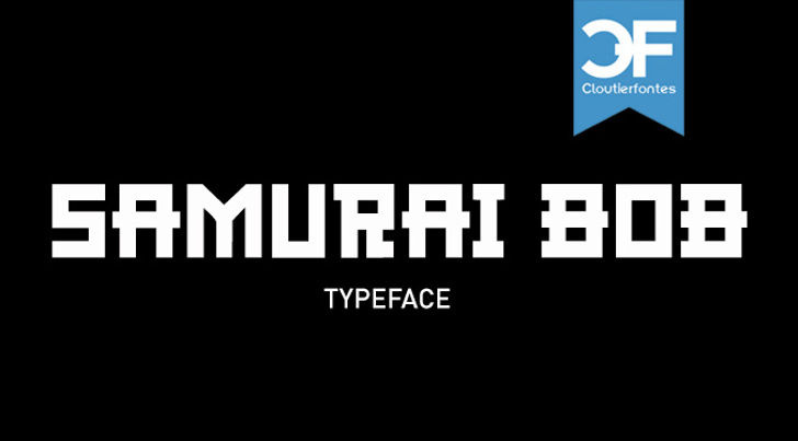 CF Samurai Bob Font screenshot design