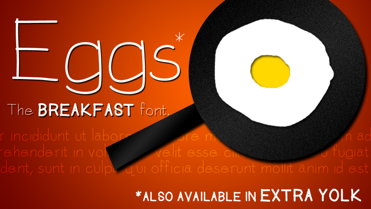 Eggs Font design screenshot