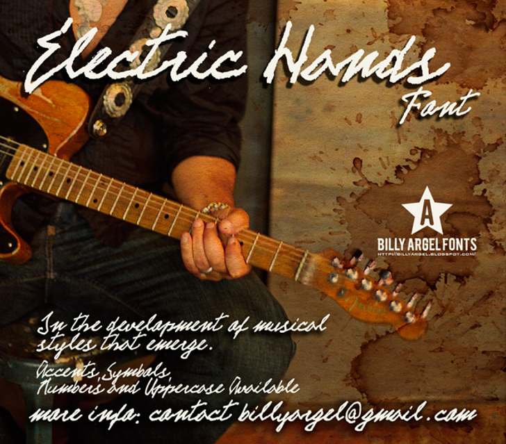 ELECTRIC HANDS Font musical instrument person
