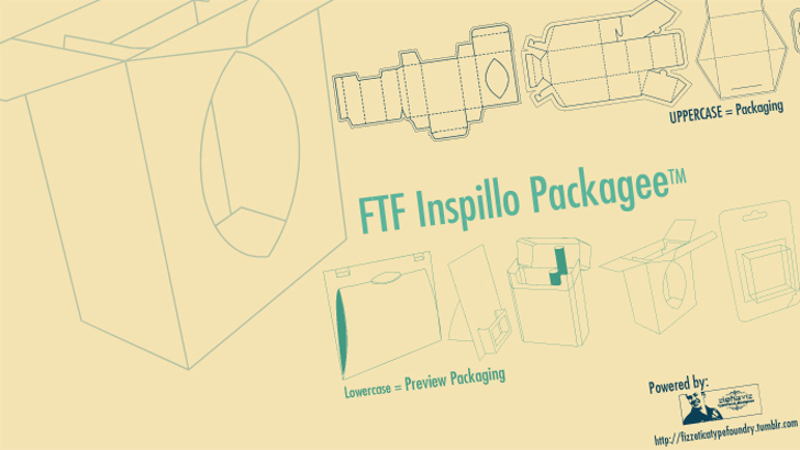 FTF Inspillo Packagee™ Font text drawing