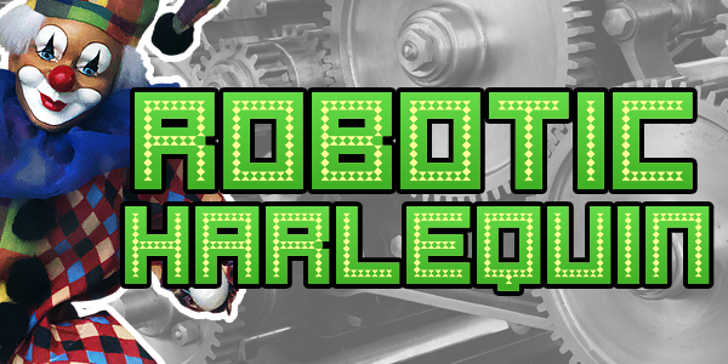 Robotic Harlequin Font screenshot geometry