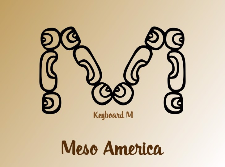 MesoAmerica Font cartoon drawing