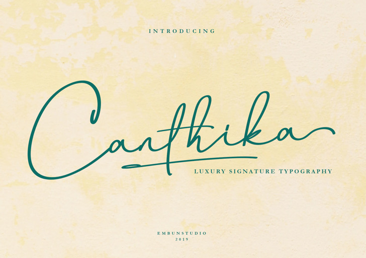 Canthika Free Font poster