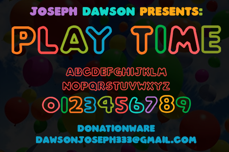 Play time Font screenshot poster