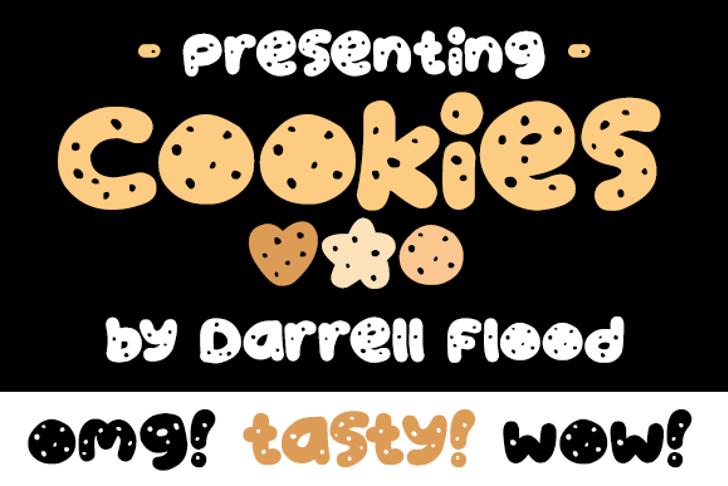 Cookies Font cartoon illustration