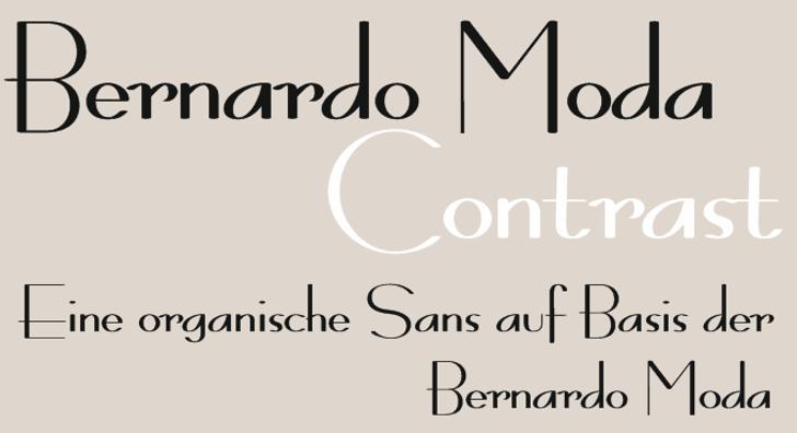 Bernardo Moda Contrast Font design screenshot