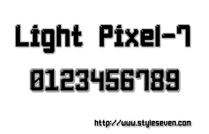 Light Pixel-7 Font design screenshot