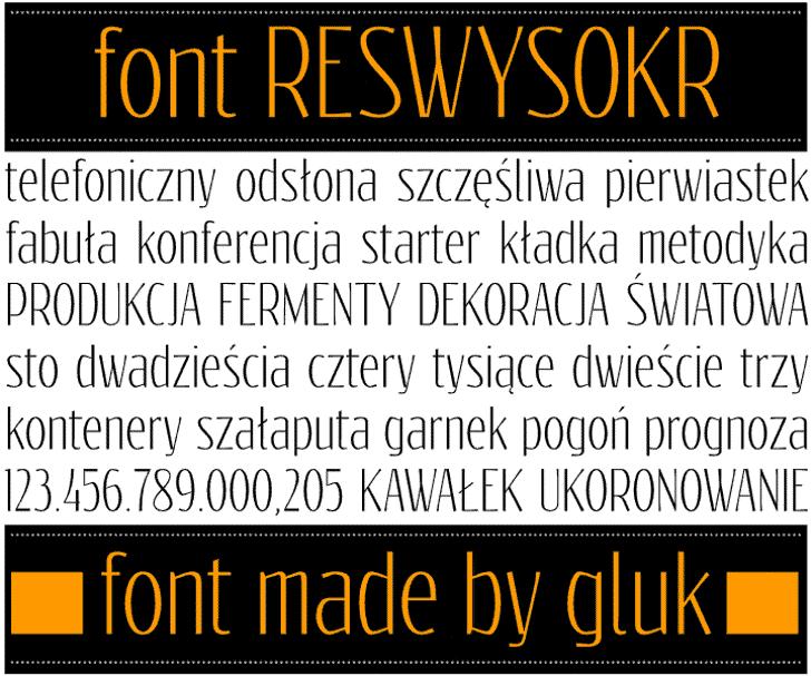 Reswysokr Font text screenshot