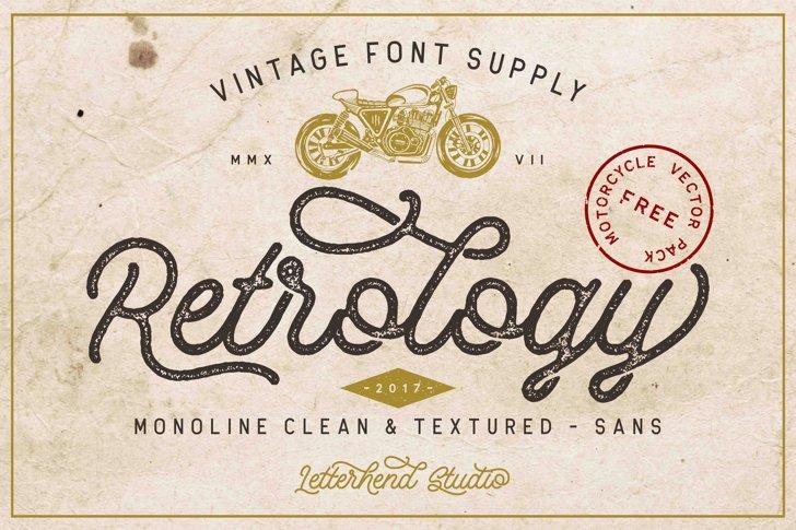 Retrology DEMO Font text typography