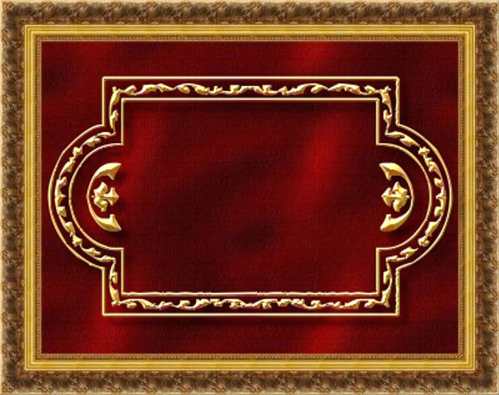 Vintage Panels_08 Font rug gold