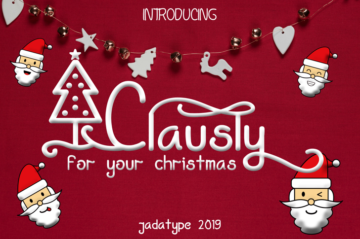 Clausly Font poster