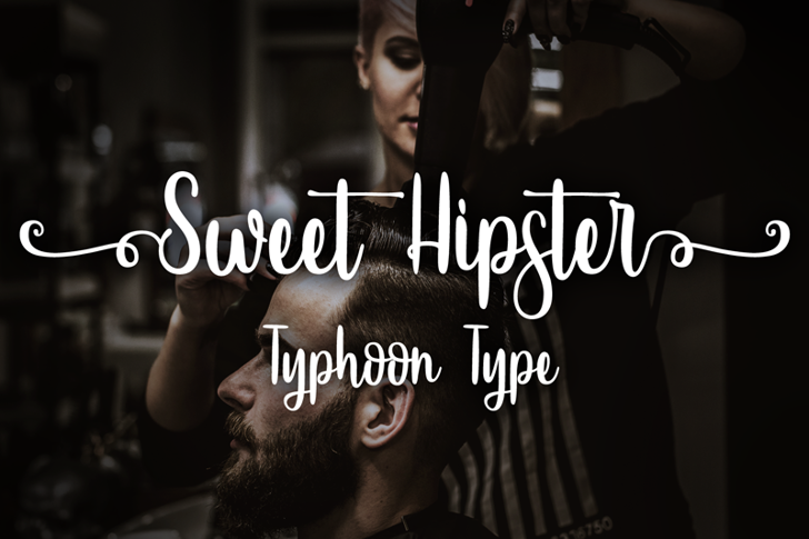 Sweet Hipster Font screenshot person