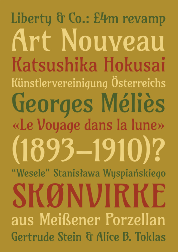 Amarante Font poster typography