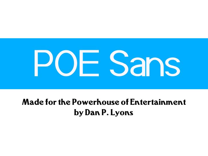 POE Sans (Demo) Font screenshot design
