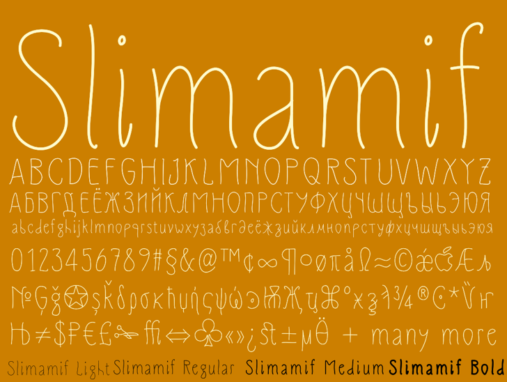 Slimamif Font design typography