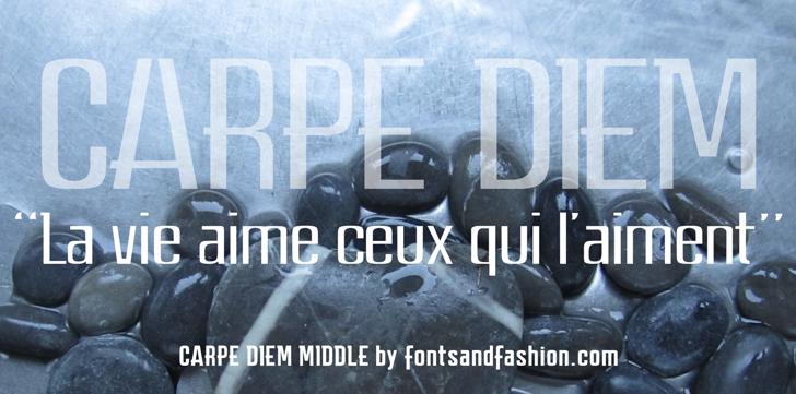 CARPE DIEM MIDDLE demo Font screenshot car