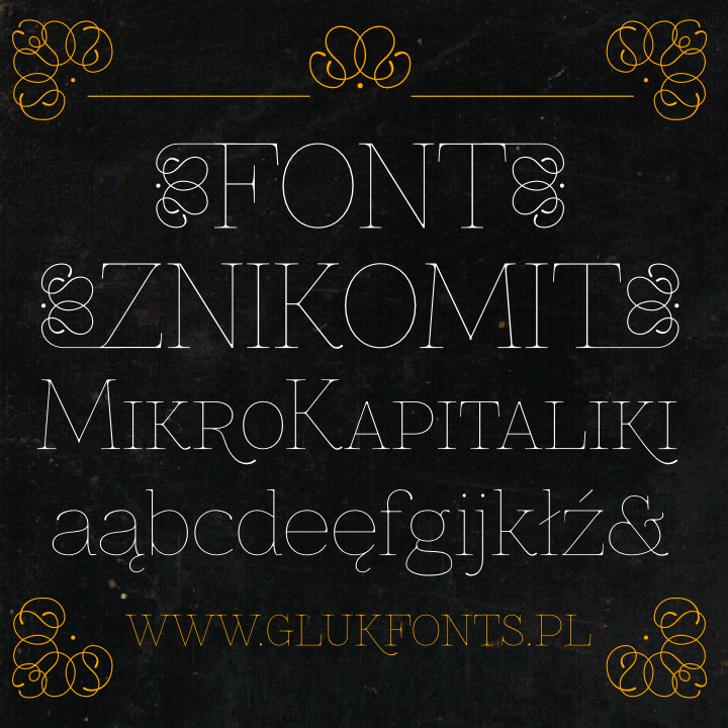 Znikomit Font text handwriting