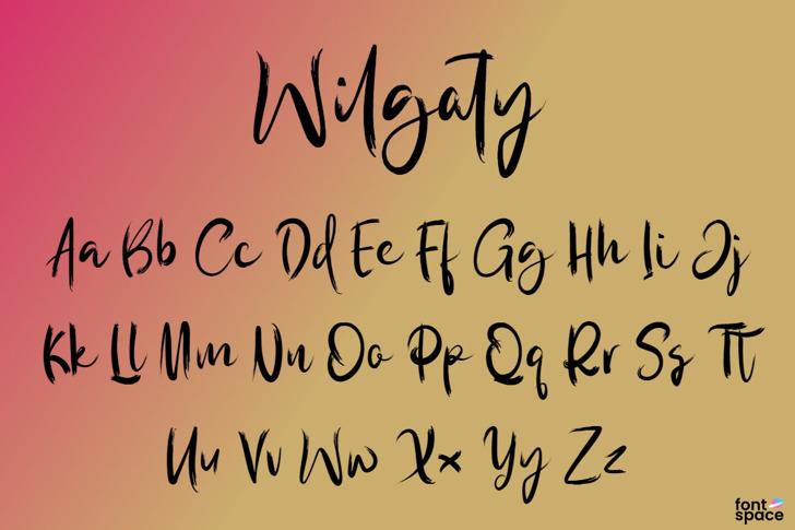 Wilgaty Pen Font poster