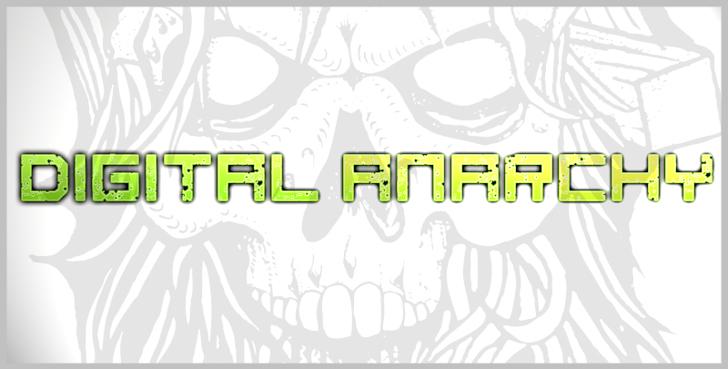 digital anarchy Font design cartoon