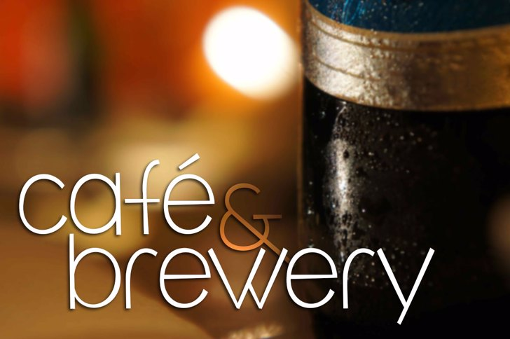 café & brewery Font bottle soft drink