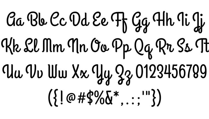 Grand Hotel Font Letters Charmap